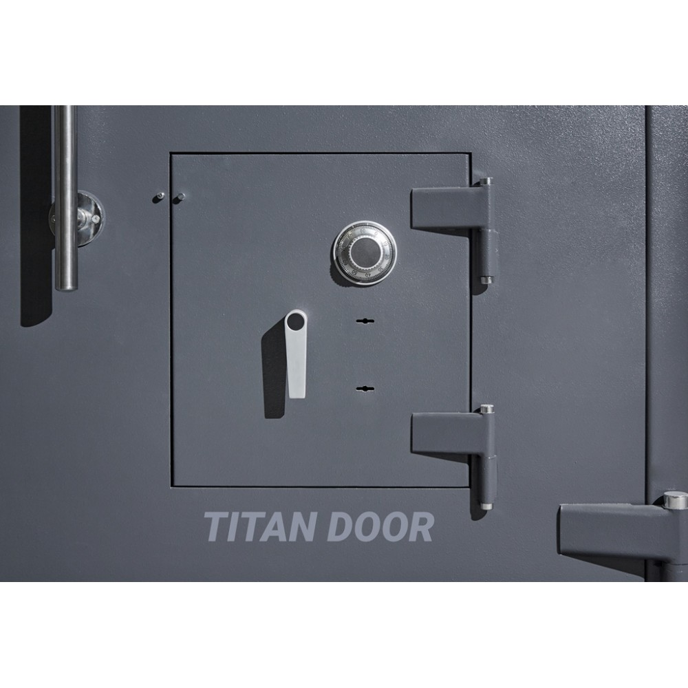 Двери для хранилищ  Паритет-К 2 класса с аварийной дверью (К+К+С)