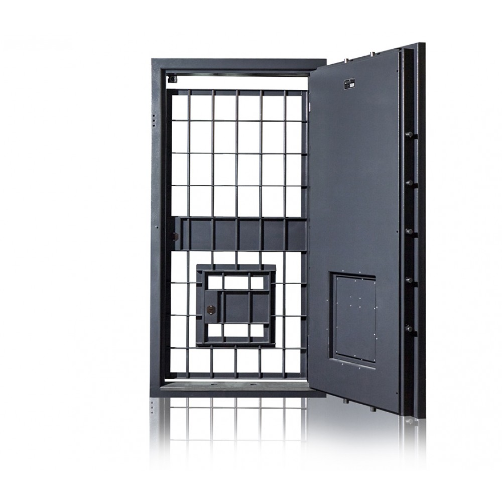 Двери для хранилищ  Паритет-К 2 класса с аварийной дверью (К+К)