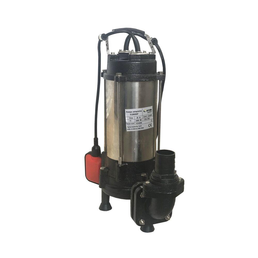 Фекальный насос Optima  V1800 DF 1.8 кВт  с режущим механизмом