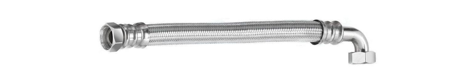Шланг водяной угловой TUCAI TAQ CODO HG-1212-600 1/2*1/2 ВВ 0,6 м нержавейка