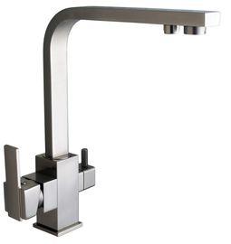 Смеситель кухонный Globus Lux LAZER GLLR-0111 StSTEEL НЕРЖАВЕЙКА комбинированный