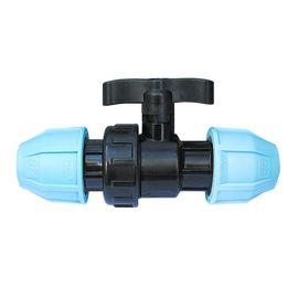 Кран шаровый полиэтиленовый VS Plast 6001 25 мм зажимной