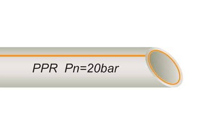 Труба полипропиленовая 63 мм со стекловолокном FR-PPR PIPE VS PLAST